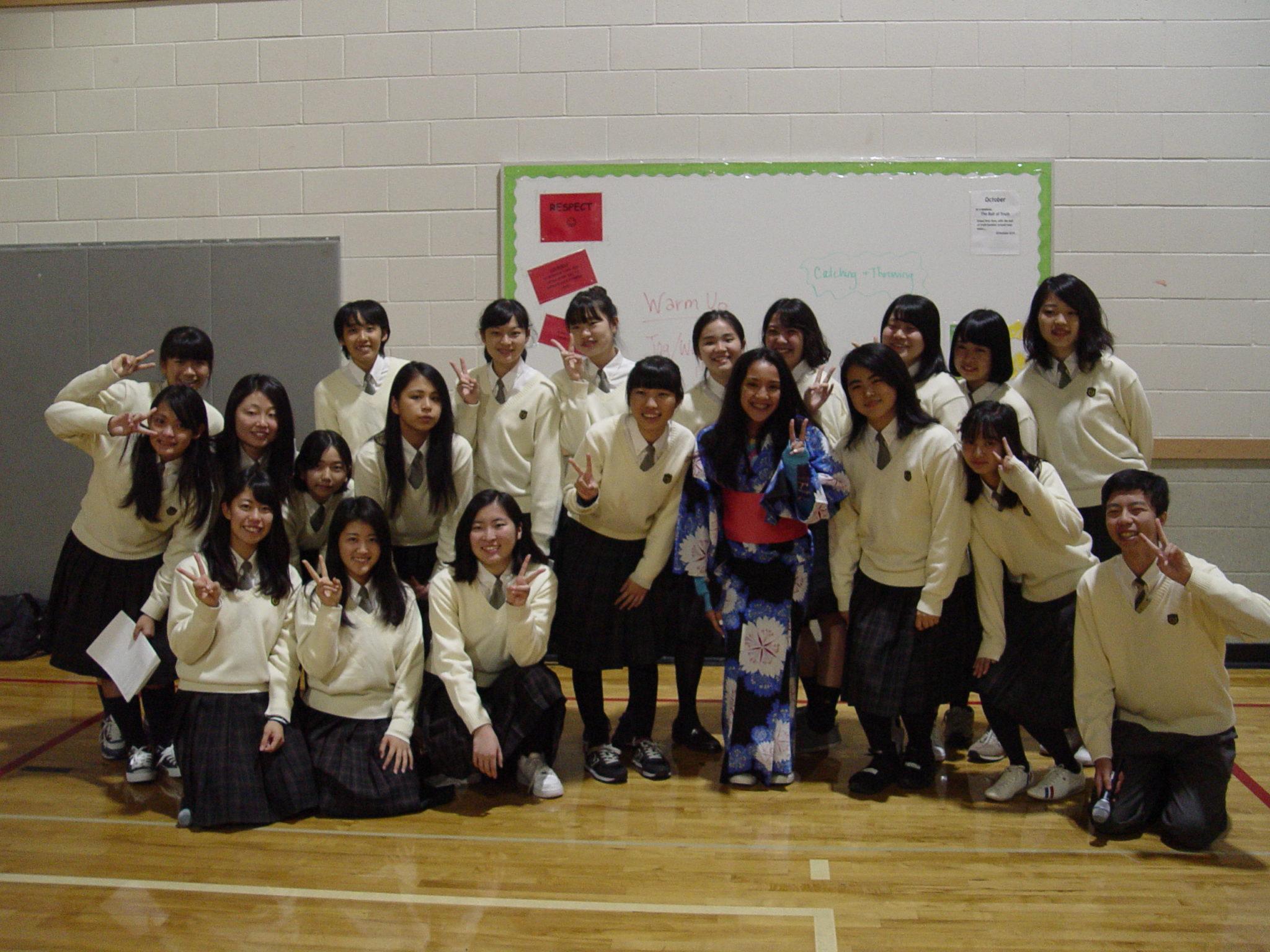 Japanese exchange students 2017
